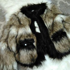Lanvin X H&M Faux Fur Jacket Size 4